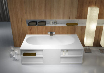 Прямоугольная ванна из искусственного камня Riho Burgos 180х102 белая BS4200500000000 3
