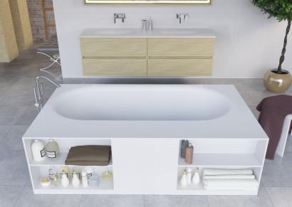 Прямоугольная ванна из искусственного камня Riho Burgos 180х102 белая BS4200500000000 4