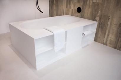 Прямоугольная ванна из искусственного камня Riho Burgos 180х102 белая BS4200500000000 6