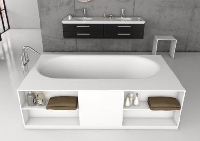 Прямоугольная ванна из искусственного камня Riho Burgos 180х102 белая BS4200500000000 7