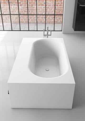 Прямоугольная ванна из искусственного камня Riho Burgos 180х102 белая BS4200500000000 8