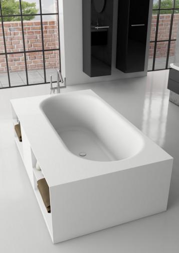 Прямоугольная ванна из искусственного камня Riho Burgos 180х102 белая BS4200500000000 9