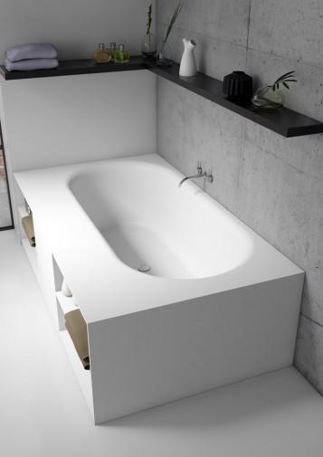 Прямоугольная ванна из искусственного камня Riho Burgos 180х102 белая BS4200500000000 10