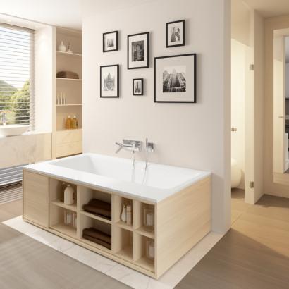 Прямоугольная ванна из искусственного камня Riho Girasole 180x100 белая BS4800500000000 2