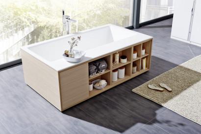 Прямоугольная ванна из искусственного камня Riho Girasole 180x100 белая BS4800500000000 3