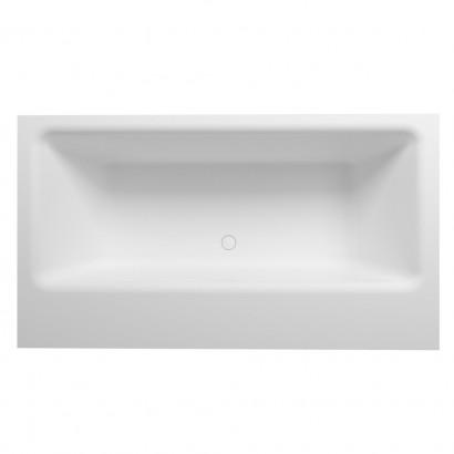 Прямоугольная ванна из искусственного камня Riho Girasole 180x100 белая BS4800500000000 8