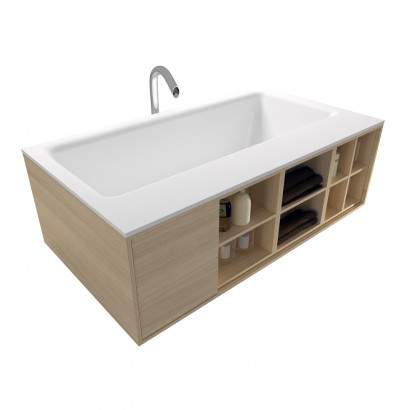 Прямоугольная ванна из искусственного камня Riho Girasole 180x100 белая BS4800500000000 9