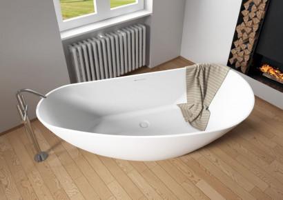 Асимметричная ванна из искусственного камня Riho Granada 170x80 R белая BS1900500000000