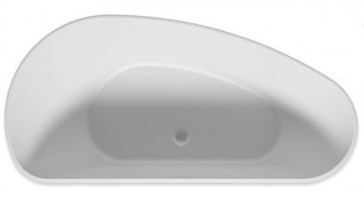 Асимметричная ванна из искусственного камня Riho Granada 170x80 R белая BS1900500000000 2