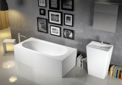 Прямоугольная ванна из искусственного камня Riho Madrid 180x86 белая BS4000500000000 2