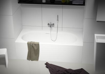 Прямоугольная ванна из искусственного камня Riho Madrid 180x86 белая BS4000500000000 7