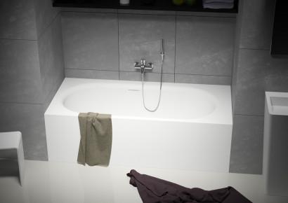 Прямоугольная ванна из искусственного камня Riho Madrid 180x86 белая BS4000500000000 8
