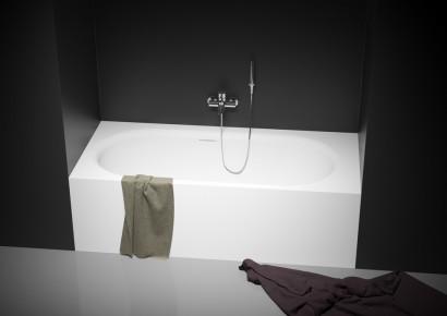 Прямоугольная ванна из искусственного камня Riho Madrid 180x86 белая BS4000500000000 9