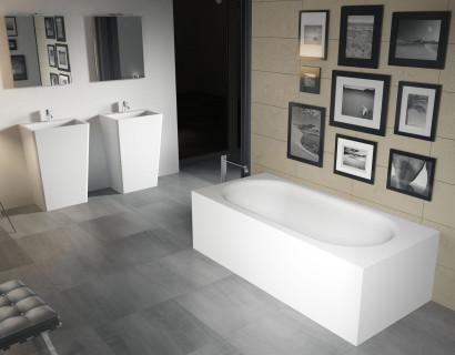 Прямоугольная ванна из искусственного камня Riho Madrid 180x86 белая BS4000500000000 10