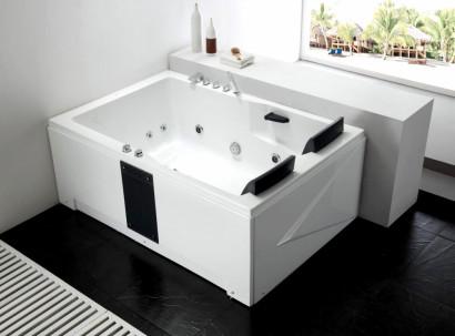 Гидромассажная  акриловая ванна Gemy G9061 B L 181 х 121 x 70 см с , белая 3