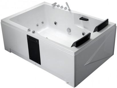 Гидромассажная  акриловая ванна Gemy G9061 B L 181 х 121 x 70 см с , белая