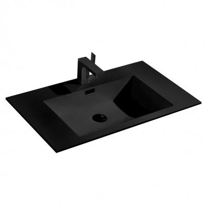 Раковина VCB-13800B из искусственного камня, цвет черный