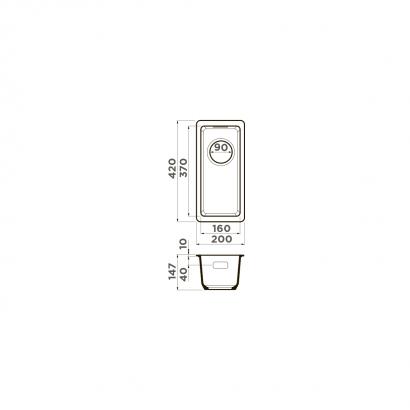 Omoikiri Kata 20-U-BE Artgranit/ваниль 2