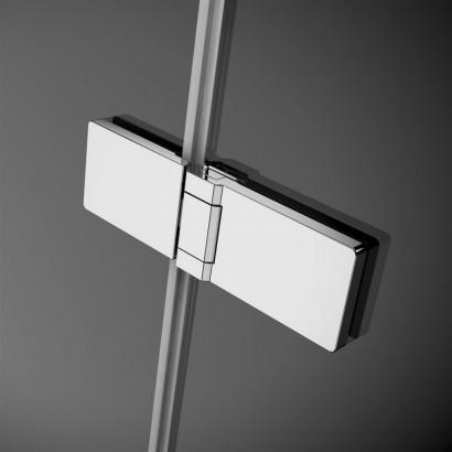 Дверь для душевого уголка Radaway Arta C DWD+S 55 левая, с петлей на углу , профиль хром , стекло прозрачное 2