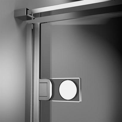Дверь для душевого уголка Radaway Arta C DWD+S 55 левая, с петлей на углу , профиль хром , стекло прозрачное 3