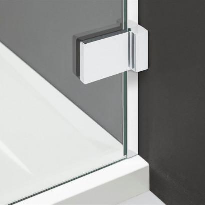 Дверь для душевого уголка Radaway Arta C DWD+S 55 левая, с петлей на углу , профиль хром , стекло прозрачное 4