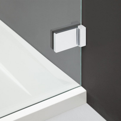 Дверь для душевого уголка Radaway Arta C DWD+S 55 левая, с петлей на углу , профиль хром , стекло прозрачное 5
