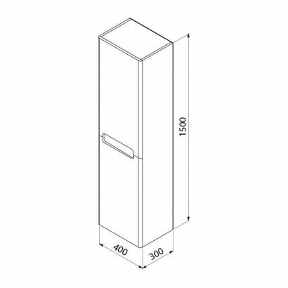 Шкаф-пенал IDDIS Edifice 40 подвесной белый 2