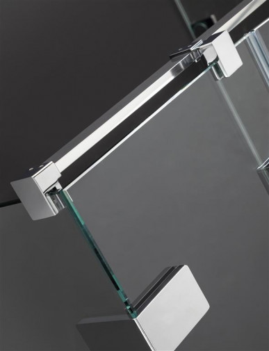 Дверь душевого уголка Radaway Arta KDJ II 80 левая , фурнитура хром ,  стекло прозрачное 6