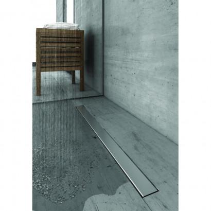 Желоб BERGES водосток C1 Norma 900, матовый хром, S-сифон D50/105мм H50 вертикальный 2