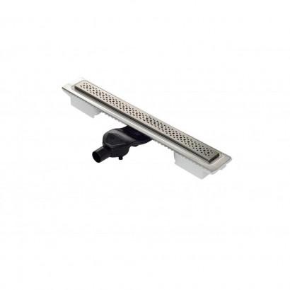 Желоб BERGES водосток C1 Brise 600, матовый хром, S-сифон D50 H60 боковой