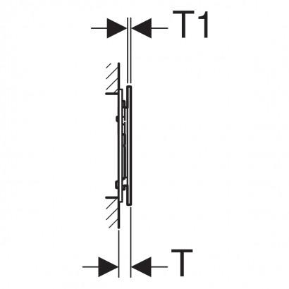 Смывная клавиша Geberit Sigma70 для двойного смыва, для смывного бачка скрытого монтажа Sigma 8 см: Умбра 4