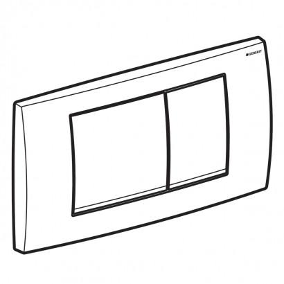Смывная клавиша Geberit Twinline30, для двойного смыва 2