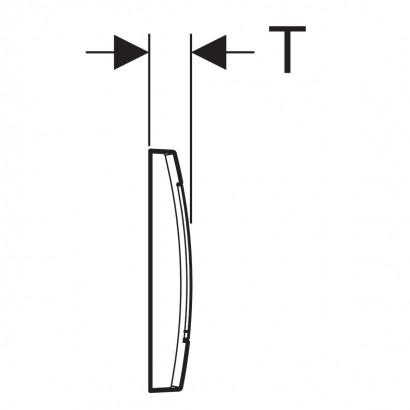 Смывная клавиша Geberit Twinline30, для двойного смыва 4