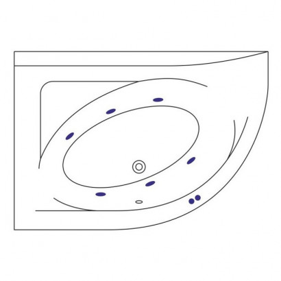 "Ванна EXCELLENT Aquarella 1700x1100 L ""SOFT"" (хром) 2"