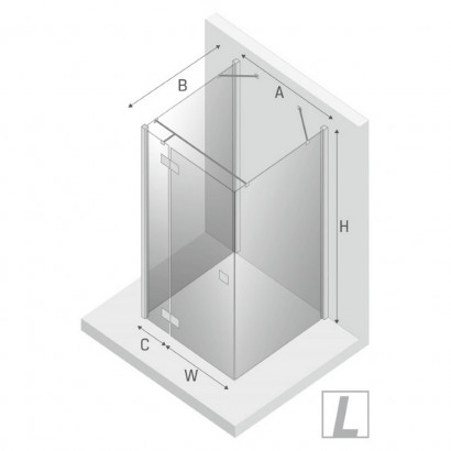 Душевое ограждение NEW TRENDY REFLEXA L 120x70x200 EXK-1435 (хром) 3