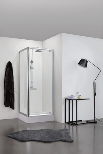 Душевой уголок BRAVAT Drop без поддона одна распашная дверь 900x900x2000 2