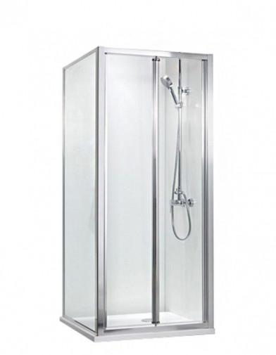 Душевой уголок BRAVAT Line без поддона с одной складной дверью 900x900x2000