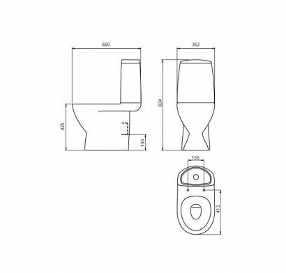 Унитаз-компакт 2 ур. арм. 248 с большой кнопкой IDDIS Mirro 2
