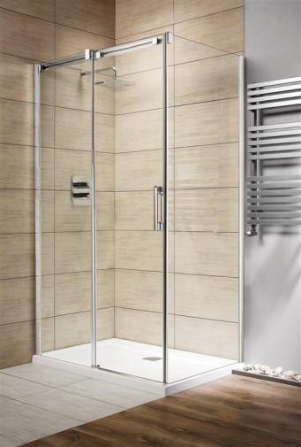 Дверь для душевого уголка Radaway Espera KDJ 110x200 левая , профиль хром, стекло прозрачное