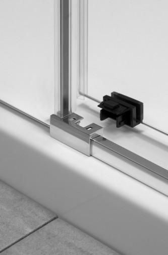 Дверь для душевого уголка Radaway Espera KDJ 110x200 левая , профиль хром, стекло прозрачное 5