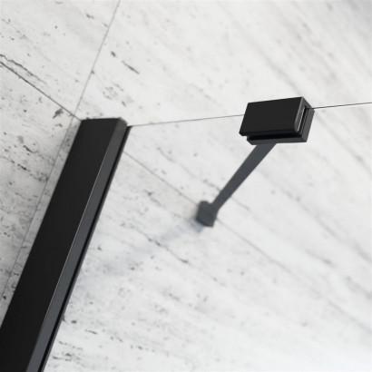 Шторка на ванну Radaway Essenza New Black PND II 110 левая , профиль чёрный , стекло прозрачное 4