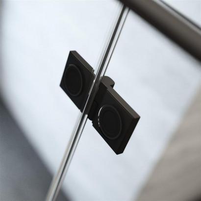 Шторка на ванну Radaway Essenza New Black PND II 110 правая , профиль чёрный , стекло прозрачное 3