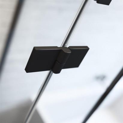 Шторка на ванну Radaway Essenza New Black PND II 130 левая , профиль чёрный , стекло прозрачное 2