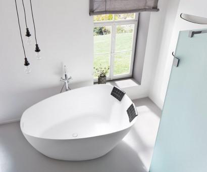 Овальная ванна из искусственного камня Riho Toledo 158x110 BS5500500000000 3