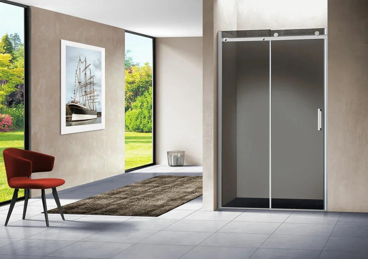 Душевая дверь Como VPS-1C150CL, 1500, хром, стекло прозрачное