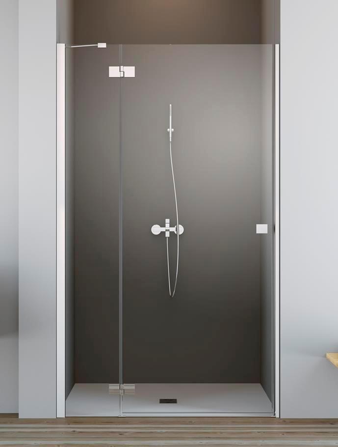 Душевая дверь Radaway Essenza New DWJ 80 левая , профиль хром , стекло прозрачное