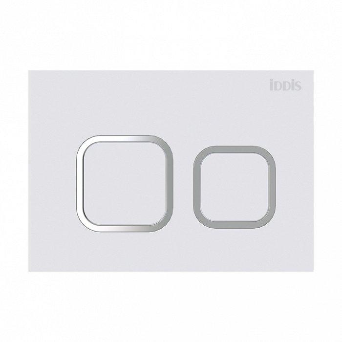 Клавиша смыва универсальная матовый белый IDDIS Unifix 040