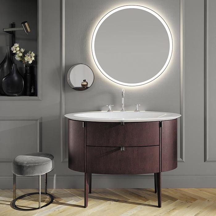 Burgbad Diva 2.0 Комплект напольной мебели 120x58.5x85 см, дуб цвета красного дерева