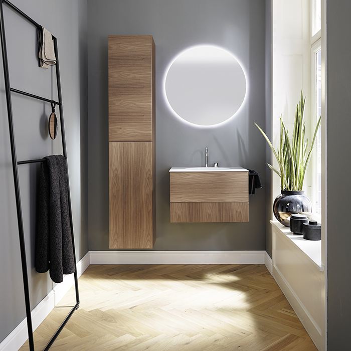 Burgbad Coco Комплект подвесной мебели 60x50x40 см, коньячный орех