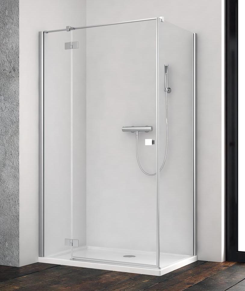 Душевая дверь  для душевого уголка Radaway Essenza New KDJ 110 левая , профиль хром , стекло прозрачное